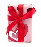 Roter Bandbogen des Geschenks Stockbilder
