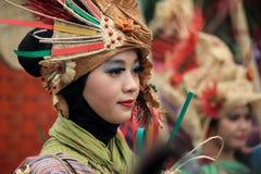 Roter Batik Stockfotografie