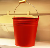 Roter Behälter Stockbild