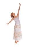 Roter behaarter Tänzer auf Weiß Lizenzfreies Stockfoto