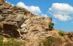 Roter Berg und schöne Felsspitzenlandschaft stockbilder