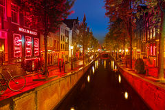 Roter Bezirk in Amsterdam Lizenzfreie Stockfotos