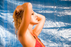 Roter Bikini Lizenzfreies Stockfoto