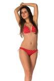 Roter Bikini Stockfoto