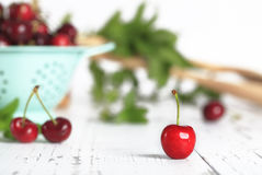 Roter Bing Cherry lizenzfreies stockfoto