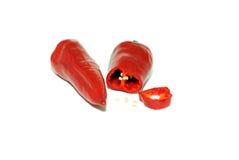 Roter bitterer Pfeffer Stockfoto