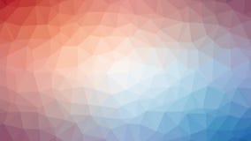 Roter blauer triangulierter Hintergrund Lizenzfreie Stockfotos
