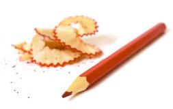 Roter Bleistift Stockbild