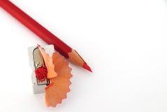 Roter Bleistift Stockfotos