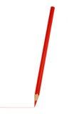 Roter Bleistift getrenntes Weiß Stockfotografie