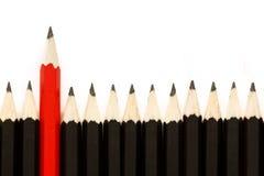 Roter Bleistift II Stockfotografie