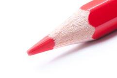Roter Bleistift Makro Stockfotos