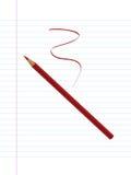 Roter Bleistift und Papier Lizenzfreie Stockfotografie