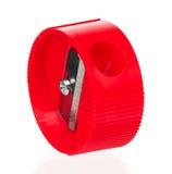 Roter Bleistiftspitzer Lizenzfreie Stockbilder