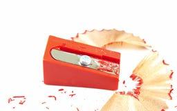 Roter Bleistiftspitzer Lizenzfreies Stockbild