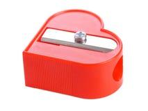 Roter Bleistiftspitzer Lizenzfreies Stockfoto