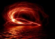 Roter Blitz Stockbild