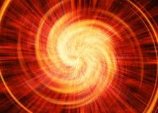 Roter Blitz in den Kosmoshimmelhintergründen Stockbild