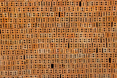 Roter Block im Baustelle-Wandpapier Lizenzfreie Stockfotografie