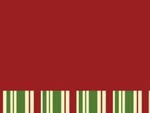 Roter Block mit Weihnachtsstreifen Lizenzfreies Stockfoto