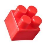 Roter Block von meccano Stockbild