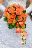Roter Blumenstrauß Stockfotos
