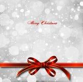 Roter Bogen auf einer magischen Weihnachtskarte. Vektor vektor abbildung