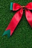 Roter Bogen auf grünem Gras Stockfoto