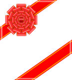 Roter Bogen mit Bandvektorillustration Lizenzfreie Stockbilder