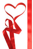 Roter Bogen von einem Band. Stockfoto