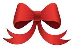Roter Bogen - Weihnachtsvektor-Illustration Stockbilder