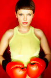 Roter Boxer lizenzfreie stockbilder