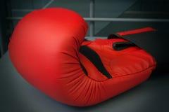Roter Boxhandschuh Stockfotografie
