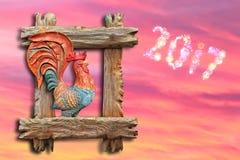 Roter brennender Hahn 2017 Lizenzfreies Stockfoto