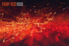 Roter brennender Hintergrund lizenzfreie abbildung
