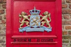Roter Briefkasten Stockbild