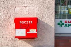 Roter Briefkasten Lizenzfreies Stockbild