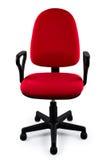 Roter Bürostuhl Stockfotos