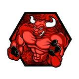 Roter bullBodybuilder Lizenzfreies Stockfoto