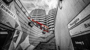Roter Bus in London Lizenzfreie Stockfotos