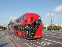 Roter Bus in London Lizenzfreie Stockfotografie