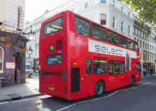 Roter Bus in London Stockfoto