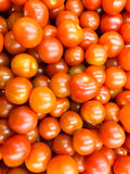 Roter Cherry Tomatoes Group For Sale im Markt Stockfotografie