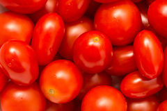 Roter Cherry Tomatoes In Vegetable Market Lizenzfreies Stockbild