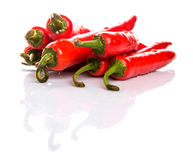Roter Chili Peppers II Stockfoto