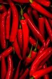Roter chillis Hintergrund Lizenzfreie Stockbilder