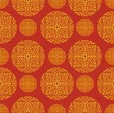 Roter chinesischer Muster-Hintergrund Stockfotos