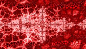 Roter christmass Luxushintergrund mit Grenadine und weißen Schneeflocken lizenzfreie abbildung