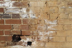 Roter Clay Brick Wall Grunge Texture Lizenzfreie Stockbilder