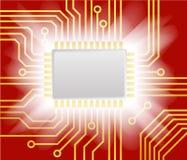 Roter Computerentwurfhintergrund Stockfoto
